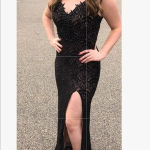 Black lace prom dress! Only worn one time!